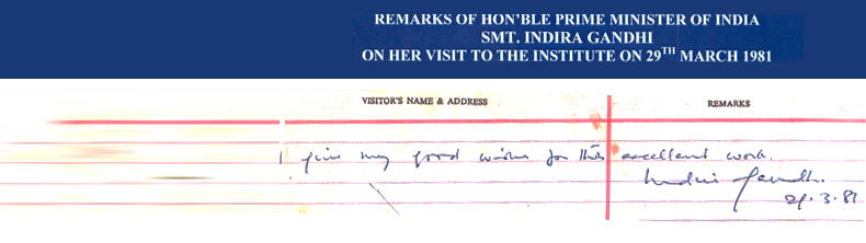 Indira Gandhi Message
